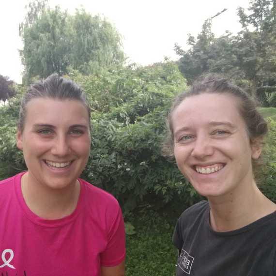 Collecte triathlon des roses - Marie & Marine