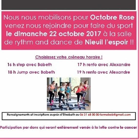 Octobre rose à Nieuil L'espoir