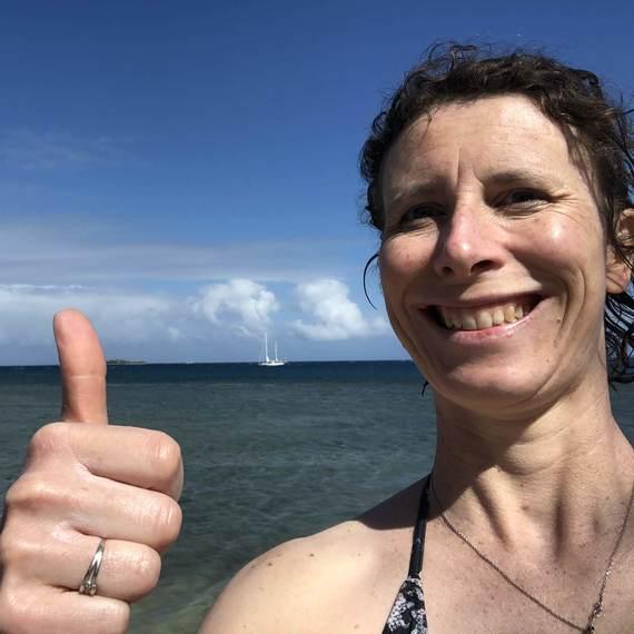 Julia au Triathlon pour aider la recherche sur le cancer du sein!