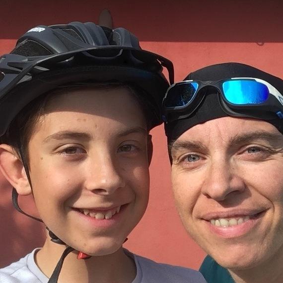 Mireille et Thomas pour le Triathlon des Roses