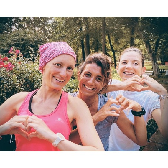 Triathlon des Roses - équipe des PANTHERES ROSES !